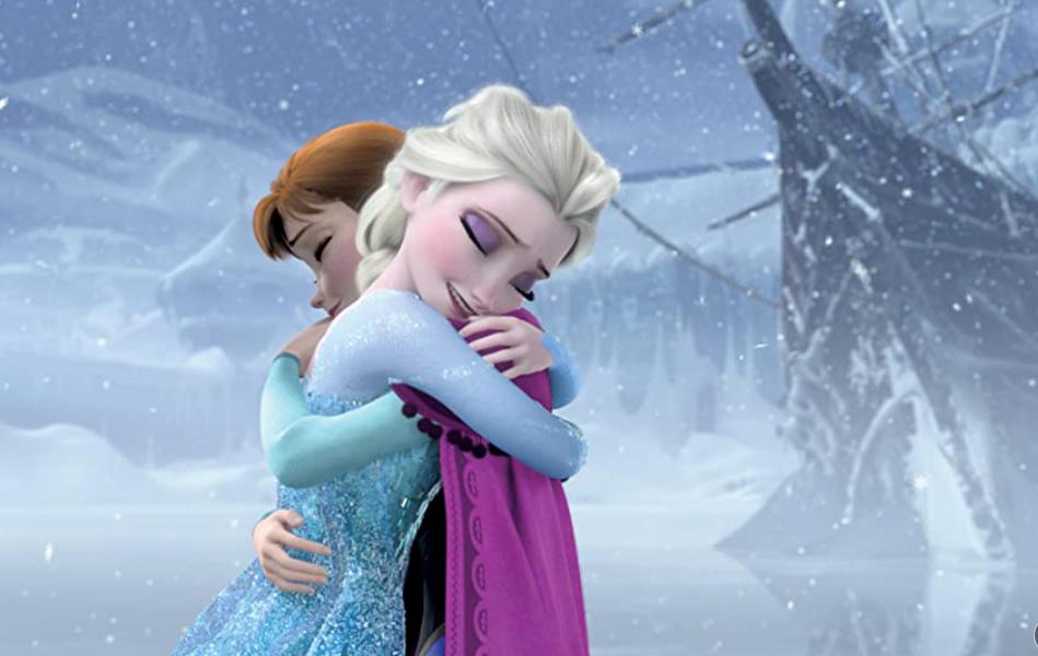 Frozen Sisters emotional Hug